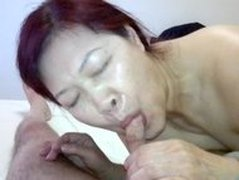 asian hooker fucked, takes cum in mouth