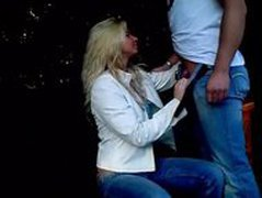Blonde Girl Park Blowjob