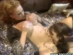 Lesbian domina gets her pussy licked