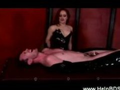 Domina from hell cbt her bonded slave