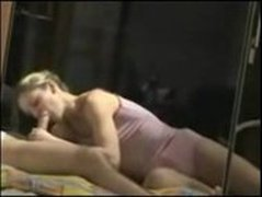 Beautiful blonde woman fucked in her ass