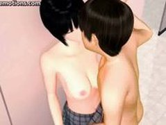 Teen animated cutie gets jizzload