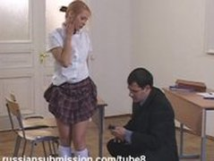 Sexy student blonde punished in bondage by her sadistic professor