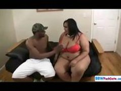 Freak Show Black BBW and Skinny Guy
