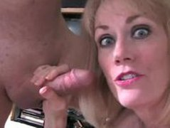Hubby watches Melanie suck cock