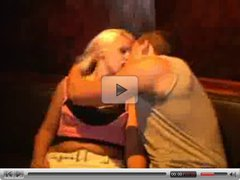 Sweet party blonde gets fucked sucking a big cock hard