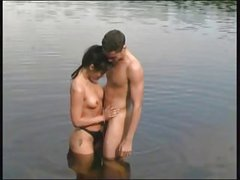 Good fucking on the nature mature woman & young guy