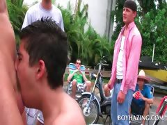 Gay handjob in college fraternity sexgames