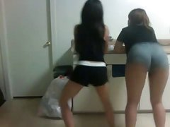 2 Sexy Wasted Young Asian Girls Shaking Their Asses 2