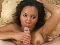 Busty black girl sucks and swallows #226NT