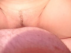 Cute chick fucked by two cocks in bedroom