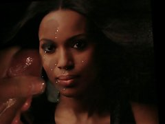 Kerry Washington facial tribute cum pic