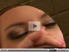Leony Aprill gets a bukakke at a gloryhole