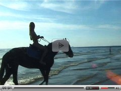 Vika still nude riding on public beach