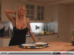 Busty British Blonde slut can't cook but can fuck