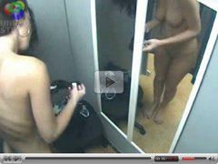 Sexy Girl Trying On Clothes In Dressing Room