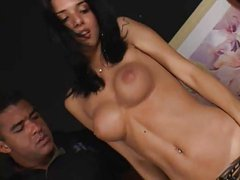 Bianca Freire Cute Shemale Tranny Ladyboy Takes Two Men