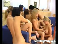 Sexy girls in a hot lesbian orgy