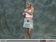 sexy blonde cutie strips for a audition