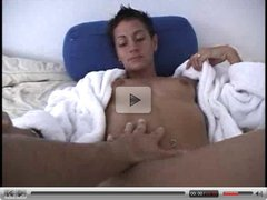 Full scene skinny short haired MILF