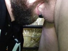 Eating cock and cum in her mouth