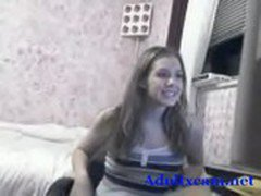 Cute babe chatting on webcam