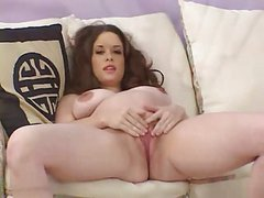 Beautiful Young Pregnant Woman Playing With Big Dildo
