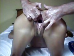 French Brunette Girl Fingered and Fisted