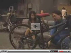 Japanese dildo-bike in public