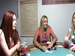Young chicks fucking on poker night