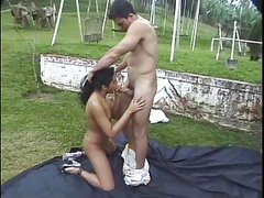 Hot Latina Keylo Takes It Outdoors