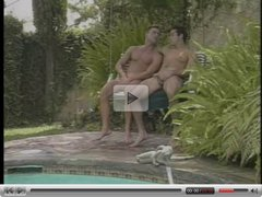 Hardcore Vintage Man2Man Poolside Sex