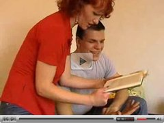 Hot Euro Mature Redhead Banging Younger