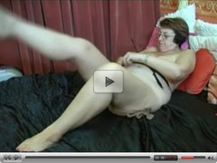 Granny Puts on Stockings then Fingers and Toys