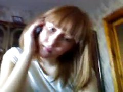 Russian amateur teen blowjob with phone