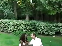 BlowBanged in the Park by her husband & strangers