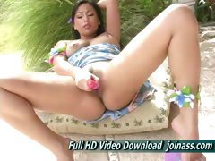 Melia Girl Seductive Lips Asian Features But With Big Crystal Blue Eyes