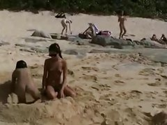 Amia and Tanner - Cute teens having fun on a nude beach