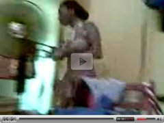 Nigerian girl Bathing Naked In The Room