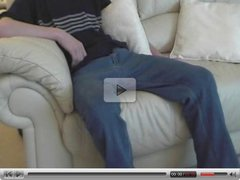 Gay spanking young boy otk & over sofa