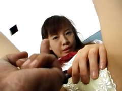 Asian cunt masturbation for a camera