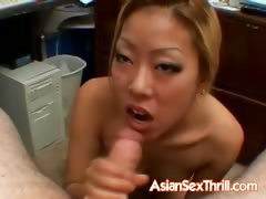Asian babe with strong hands
