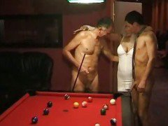 Naughty Austrian swinger gal with nice tits getting gangbanged
