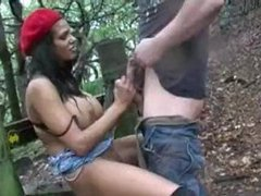 British indian babe outdoor sex