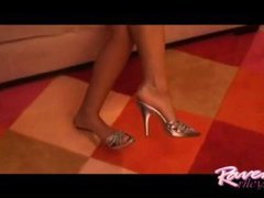 Raven Riley does a footjob!