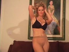 Julia Ann in pantyhose pt.1