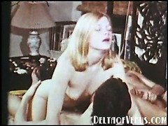 Vintage Erotica 1970s - Group Sex with Blonde