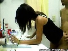 Cute GF Bathroom BJ & Sex