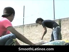 Mexican twinks go gay bareback