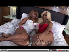 Double Bubble Black Asses in POV fuck scene